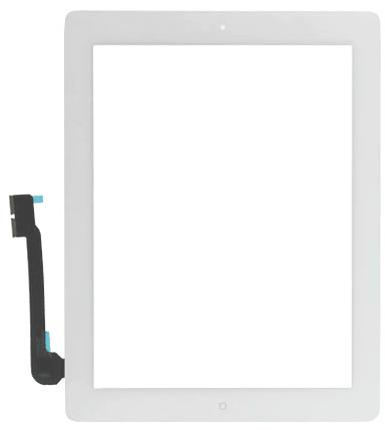 Vitre tactile blanc complète + le bouton home pour ipad 3/4