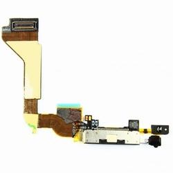 Nappe  de charge noir( dock)+ micro pour iPhone 4