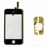 Vitre tactile sur chassis iPhone  noir RUPTURE