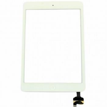 Vitre tactile complète blanc + bouton home pour ipad mini 2