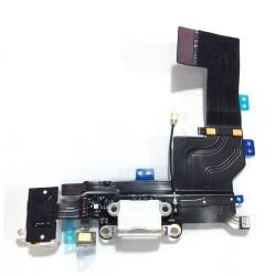 Nappe Dock charge et jack blanc et micro bas pour iPhone 5s