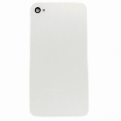 Vitre Arrière sur chassis Blanc sans logo pour iPhone 4S