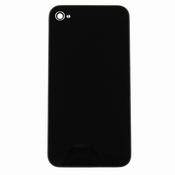Vitre Arrière sur chassis Noir sans logo pour iPhone 4